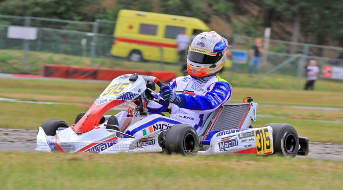 John Norris with Mach1 kart at the CIK Euro