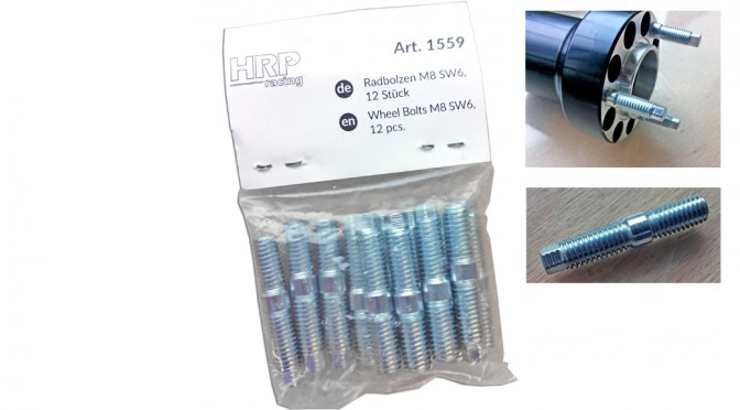 New Mach1 Kart / HRP stud bolts