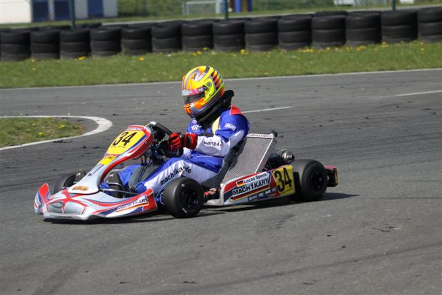 Lucas Speck (KF2) bei den ADAC Kartmasters
