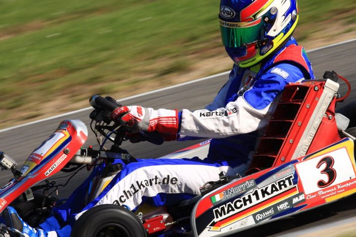 John Norris at the Moemorial in Kerpen with Mach1 Kart