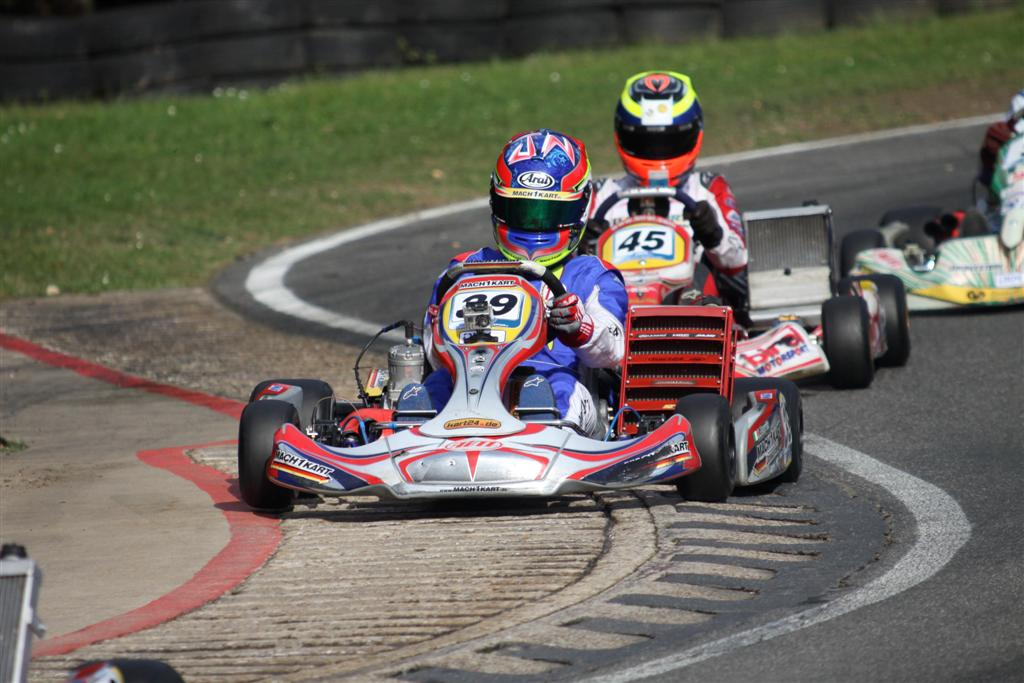 John Norris with Mach1 Kart at the DKM in Kerpen