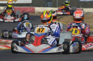 Lucas Speck at the Lonato Winter Cup with Mach1 Kart