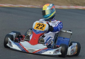 Manuel Valier at the Lonato Winter Cup with Mach1 Kart