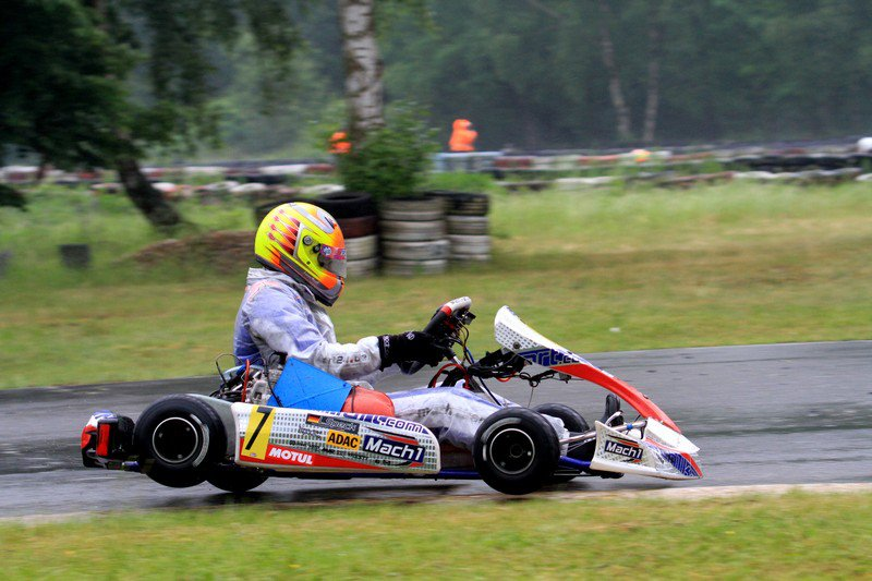 Lucas Speck with Mach1 Kart at the ADAC Kartmasters