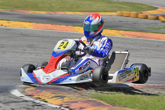 Lucas Speck with Mach1 Kart at the DKM in Ampfing