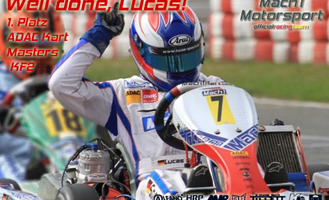 Lucas Speck at the ADAC Kart Masters with Mach1 Kart