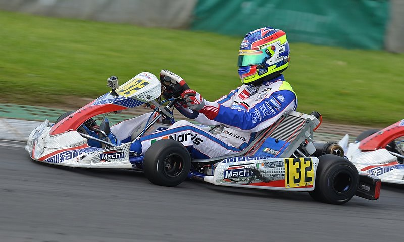 John Norris with Mach1 Kart at the WSK (archive picture)
