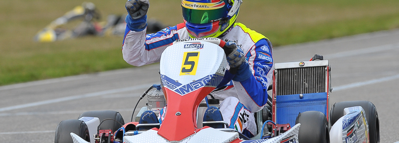 John Norris at the DKM Final in Genk with Mach1 Kart