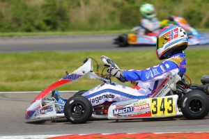 Nicolai Hagenaes with Mach1 Kart at the WSK Euro in Genk