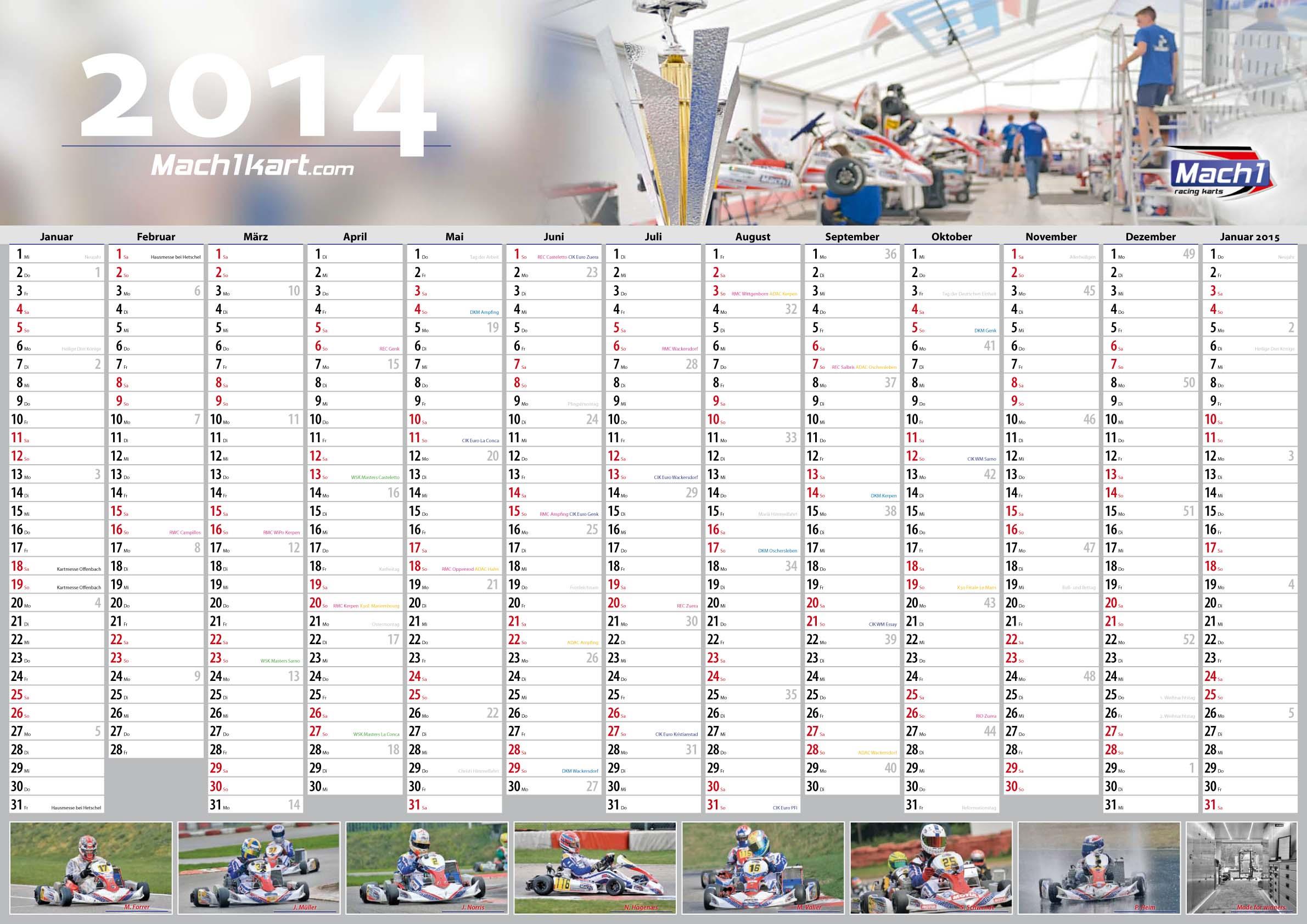 mach1 motorsport calendar 2014