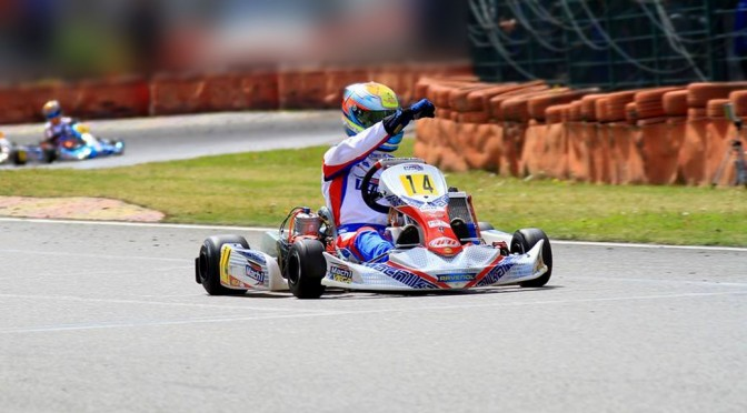Manuel Valier with Mach1 Motorsport at the DKM in Ampfing driving his Mach1 Kart
