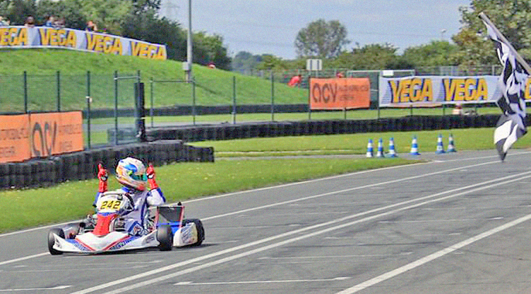 John Norris with mach1 kart at the DSKM in Oschersleben
