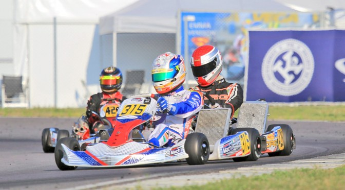 John Norris with Mach1 Kart at the European Championship in Sweden