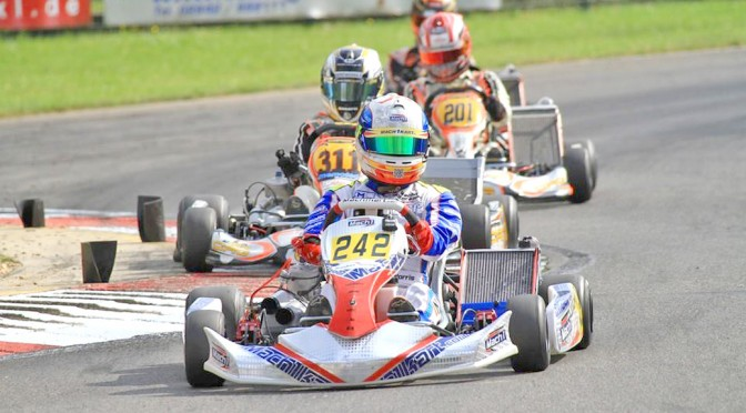John Norris with Mach1 Kart at the DKM Kerpen
