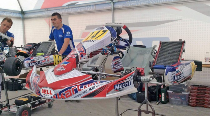 Mach1 Motorsport at the Kart World Championship at Le Mans