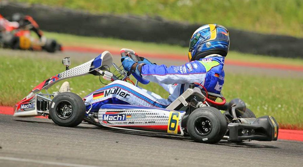 Julian Müller with Mach1 Motorsport at the ADAC Kartmasters in Kerpen
