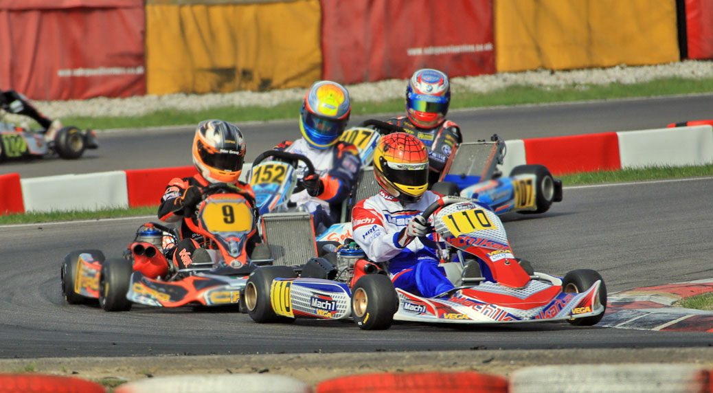 David Livinski with Mach1 Motorsport at the ADAC Kartmasters in Wackersdorf